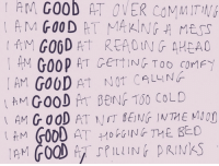 Tumblr, Blog, and Good: AM  Goob  AT  OVER  COMMITN  , AN GOOP  AT GETTING TOO CoMF  CALL Nr  AM GOOD AT NIT BENG INTHE MIO  AM GOOD AT HoNTHE BEO sexpectinq:  following back tons