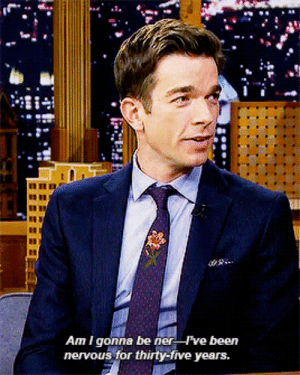 awkwardmermaidhair: john-mulaney: John Mulaney stops by The Tonight Show  God what a mood : Am I gonna be ner ve been  nervous for thirty-five years. awkwardmermaidhair: john-mulaney: John Mulaney stops by The Tonight Show  God what a mood