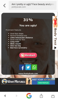 """Test picture am ugly i The """"Am"""