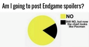 Dank, Memes, and Target: Am l going to post Endgame spoilers?  NO  Still NO, but now  the chart looks  like Pacman Nom Nom nom by Pitify MORE MEMES