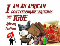 AMAN AFRICAN DONTCELEBRATECHRISTMAS African Festival I Am ...
