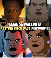 Bitch, Memes, and Vision: AMANDA WALLER IS  RESTING BITCH FACE PERSONIFIED  IGIBLERD VISION
