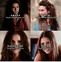 {🐰💕} → the 4 Petrova doppelgängers Nina Dobrev is so gorgeous 😍😍 → qotd >> Katherine or Elena?? — ic : @vdsceneig follow her pls 💕: AMARA  The girl who suffered for love  KATHERINE  The girl who ran from love  TATIA  The girl who was killed by love  Paul  Wesley ig  LENA  The girl who died for love {🐰💕} → the 4 Petrova doppelgängers Nina Dobrev is so gorgeous 😍😍 → qotd >> Katherine or Elena?? — ic : @vdsceneig follow her pls 💕
