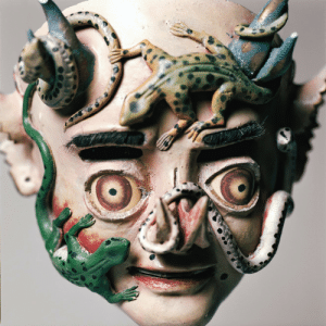 amare-habeo:  Mask of China Supay Dance of the Diablada, early 20th century Plaster, polychrome, 22 × 27 × 15.5 cm : amare-habeo:  Mask of China Supay Dance of the Diablada, early 20th century Plaster, polychrome, 22 × 27 × 15.5 cm