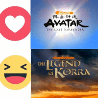 Using the facebook reactions, vote for what you think is the better TV series between Avatar: The Last Airbender, and The Legend of Korra. -MrBKainX: AMATAR  THE LAST AIR BENDER  nickelodeon  THE  GIKORRA Using the facebook reactions, vote for what you think is the better TV series between Avatar: The Last Airbender, and The Legend of Korra. -MrBKainX