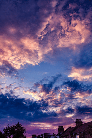 England, London, and The Weekend: Amazing altocumulus from the weekend over north London, England