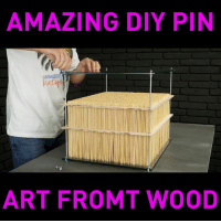 Funny, Amazing, and Art: AMAZING DIY PIN  ART FROMT WOOD