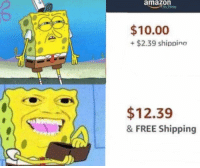 Amazon, Free, and Shipping: amazon  $10.00  +$2.39 shippino  $12.39  & FREE Shipping
