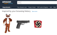 """Amazon, amazon.com, and Help: amazon  All  Try Prime  Departments  Your Amazon.com Today's Deals Gift Cards&Registry Sell Help  Inspired by your browsing history See more  G3 <p>Capitalizing on Amazon&rsquo;s Recent Success via /r/MemeEconomy <a href=""""http://ift.tt/2gmkHbK"""">http://ift.tt/2gmkHbK</a></p>"""