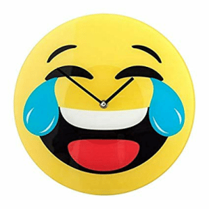 Amazoncom Smiley Clock Crying Laughing Emoji Home Kitchen
