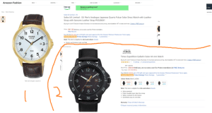 Which watch should I buy? I need something solar under £50 for formal use.: Amazon Fashion  WOMEN  NEW -  MEN  KIDS & BABY -  LUGGAGE -  BRANDS  top up  Balance getting low?  y Sale  Top up now  Men > Wrist Watches  WOMEN  Seiko UK Limited - EU  Seiko UK Limited - EU Men's Analogue Japanese Quartz Pulsar Solar Dress Watch with Leather  Strap with Genuine Leather Strap PX3200X1  Me  Buying for work? Discover Amazon Business, for business-exclusive pricing, downloadable VAT invoices and more. Create a FREE account  Price: £41.56 Delivery at no extra cost for Prime members  60  12  FREE Returns  11  10  Pay £41.56 £21.56: get a £20 gift card upon approval for the Amazon Platinum Mastercard. Terms apply.  Promotion Message Prime Savings Prime Savings. 1 promotion  PULSAR  SOLAR  Note: This item is eligible for click and collect. Details  • CClassic and timeless look and feel  nWrist Watches  43  SHOP THE  50M  TIMEX  BRAND STORE  5.  Timex Expedition Gallatin Solar 44 mm Watch  30  Buying for work? Discover Amazon Business, for business-exclusive pricing, downloadable VAT invoices and more. Create a FREE account  8 ratings | 4 answered questions  RRP £69.99  Deal Price: £38.59 Delivery at no extra cost for Prime members & FREE Returns  You Save: £31.40 (45%)  12  Pay £38.59 £18.59: get a £20 gift card upon approval for the Amazon Platinum Mastercard. Terms apply.  TIMEX  Promotion Message Prime Savings Prime Savings. 1 promotion  Colour Name: Black Leather  6:  14  Roll over image to zoom in  £38.59  £38.59  £49.00  £38.59  vprime  vprime  vprime  vprime  EXPEDITION  SOLAR  Note: This item is eligible for click and collect. Details  • Solar powered  • Fabric-double-layer-slip-thru-strap  • Water-resistant-to-50-meters  • Quickdate-easy-to-set-date-  II WR SOM I TIM  30  Warranty: Timex UK Watch Warranty  Q Report incorrect product information.  40 Which watch should I buy? I need something solar under £50 for formal use.