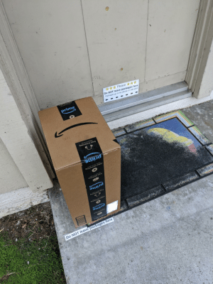 Amazon Flex Driver clearly following directions: Amazon Flex Driver clearly following directions