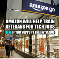 "MAGA is already giving out results. Last week, Amazon said it would bring 100,000 full-time jobs to the US by 2018. This week, the online retailer announced a registered apprenticeship program with the US Department of Labor that will offer training to veterans. The initiative follows CEO Jeff Bezos' pledge to hire 25,000 veterans and their spouses over the course of five years. This new apprenticeship program will train veterans for ""in-demand technical careers"" at Amazon. In a press release announcing the initiative, the US Department of Labor said that the first participants will be trained for an AWS Cloud Support Associate position. The Labor Department also explained that over 200 companies, colleges and labor organizations have signed on to participate in the larger ApprenticeshipUSA program. Amazon and Tesla Motors are the only two big name tech companies listed that offer registered apprenticeships. veteranscomefirst veterans_us Veterans Usveterans veteransUSA SupportVeterans Politics USA America Patriots Gratitude HonorVets thankvets supportourtroops semperfi USMC USCG USAF Navy Army military godblessourmilitary soldier holdthegovernmentaccountable RememberEveryoneDeployed Usflag StarsandStripes: amazon go  i AMAZON WILL HELP TRAIN  VETERANS FOR TECH JOBS  LIKE  IF YOU SUPPORT THEINITIATIVE  ING MAGA is already giving out results. Last week, Amazon said it would bring 100,000 full-time jobs to the US by 2018. This week, the online retailer announced a registered apprenticeship program with the US Department of Labor that will offer training to veterans. The initiative follows CEO Jeff Bezos' pledge to hire 25,000 veterans and their spouses over the course of five years. This new apprenticeship program will train veterans for ""in-demand technical careers"" at Amazon. In a press release announcing the initiative, the US Department of Labor said that the first participants will be trained for an AWS Cloud Support Associate position. The Labor Department also explained that over 200 companies, colleges and labor organizations have signed on to participate in the larger ApprenticeshipUSA program. Amazon and Tesla Motors are the only two big name tech companies listed that offer registered apprenticeships. veteranscomefirst veterans_us Veterans Usveterans veteransUSA SupportVeterans Politics USA America Patriots Gratitude HonorVets thankvets supportourtroops semperfi USMC USCG USAF Navy Army military godblessourmilitary soldier holdthegovernmentaccountable RememberEveryoneDeployed Usflag StarsandStripes"