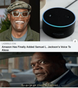 Hey Alexa, I am home. by SID_PATHANIA68 MORE MEMES: amazon  LADBIBLE.COM  Amazon Has Finally Added Samuel L. Jackson's Voice To  Alexa  Gu gu ga ga motherfucker Hey Alexa, I am home. by SID_PATHANIA68 MORE MEMES