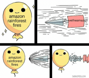 Raid the amazon rainforest with water guns: amazon  savetheamazon  rainforest  fires  amazon  rainforest  fires  SHENCOMIX.COM Raid the amazon rainforest with water guns