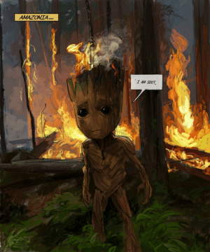 I made this in light of the Amazon forest fires. [OC]: AMAZONTA...  I AM SOOT  @sanchitc_art I made this in light of the Amazon forest fires. [OC]
