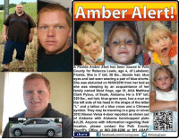 """#AmberAlert #GulfCoast Little girl kidnapped from her bed! Last spotted in #Forsyth, #GA at a gas station at 6:30 p.m. on 10/08/2016! A #Florida #Georgia & #Alabama Amber Alert has been issued out of Polk County for Rebecca Lewis, age 4, of Lakeland, #FL. She is 3' tall, 30 lbs., blonde hair, blue eyes and last seen wearing a pink dress and possibly blue shorts underneath.  She was abducted by an acquaintance of her family, while she lay asleep in her bed. The suspect, West Hogs, age 31, also known as Matthew Clark Pybus, of #Seale, Alabama, is 5'8"""" tall, 220 lbs., red hair, blue-green eyes, has a scar on the left side of his head in the shape of the letter """"L"""" and a tattoo of a blue cross and a Chinese symbol. He was last seen wearing a light colored t-shirt and blue jeans.They may be traveling in a grey or silver 2012 Nissan Versa 4-door reported as stolen out of Alabama with #AL handicapped plate #4JL26.   Anyone with information on their location, please contact the Polk County Sheriff's Office at 863-298-6200 or 911.   To assist with missing persons and wanted fugitive cases please join Locate The Missing on Facebook.  LakelandPD: Amber Alert!  A Florida Amber Alert has been issued in Polk  County for Rebecca Lewis, age 4, of Lakeland,  Florida. She is 3' tall, 30 lbs., blonde hair, blue  eyes and last seen wearing a pair of blue shorts.  She was abducted on 10/08/2016 from her bed as  she was sleeping by an acquaintance of her  family  named West Hogs, age 31, AKA Matthew  Clark Pybus, of Seale, Alabama. He is 5'8"""" tall,  220 lbs., red hair, blue-green eyes, has a scar on  the left side of his head in the shape of the letter  """"L"""" and a tattoo of a blue cross and a Chinese  symbol. They may be traveling in a grey or silver  2012 Nissan Versa 4-door reported as stolen out  of Alabama with Alabama handicapped plate  4JL26. Anyone with information regarding their  location, please contact the Polk County  O  Sheriffs Office at 863-298-6200 911 share  If facebook.c"""