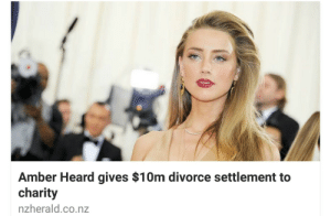 meladoodle:  This is literally the biggest slap in the face to anyone who called her a gold digger : Amber Heard gives $10m divorce settlement to  charity  nzherald.co.nz meladoodle:  This is literally the biggest slap in the face to anyone who called her a gold digger