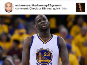 Tumblr, Blog, and Http: amberrose liked money23green's  comment: Check ur DM real quick 16m   NSTA  OLDEN  23 thacakery:  Shoot your shot.