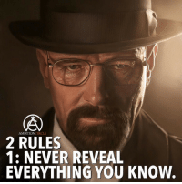 Comment below if you know the second rule👇 - DOUBLE TAP IF YOU AGREE!: AMBITION  CIRCLE  2 RULES  1: NEVER REVEAL  EVERYTHING YOU KNOW. Comment below if you know the second rule👇 - DOUBLE TAP IF YOU AGREE!