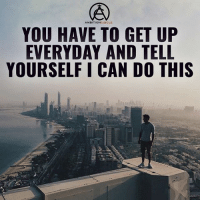 Memes, Ambition, and 🤖: AMBITION  CIRCLE  YOU HAVE TO GET UP  EVERYDAY AND TELL  YOURSELF I CAN DO THIS You can do this! - DOUBLE TAP IF YOU AGREE!