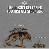 As life goes on, you only become stronger! - DOUBLE TAP IF YOU AGREE!: Ambition  LIFE DOESNT GET EASIER  YOU JUST GET STRONGER  Me Now  The Old Me As life goes on, you only become stronger! - DOUBLE TAP IF YOU AGREE!