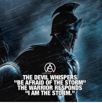 "Be the storm! - DOUBLE TAP IF YOU AGREE!: AMBITION  THE DEVIL WHISPERS  ""BE AFRAID OF THE STORM""  THE WARRIOR RESPONDS  III AM THE STORM.In Be the storm! - DOUBLE TAP IF YOU AGREE!"