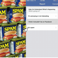 spam: AME SPAM  SPAM  1:51 PM  11%  ....o WIND  Cancel  Report  Help Us Understand What's Happening  What's going on?  It's annoying or not interesting  I think it shouldn't be on Facebook  It's spam