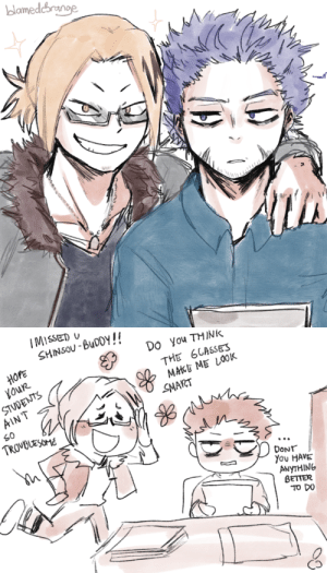 blamedorange:Kaminari: REMEMBER THE TIME WHEN WE TEAMED UP AND U SAID U DIDN'T WANT TO MAKE FRIENDS—: amedc   IMISSED  SHINSOU-BuDDY!  HOPE  youR  STUDENTS  Do You TMINK  THE 6GASSES  AIN T  SMART  DoNT  You HAVE  ANyTHING  GETTER  TO DO blamedorange:Kaminari: REMEMBER THE TIME WHEN WE TEAMED UP AND U SAID U DIDN'T WANT TO MAKE FRIENDS—