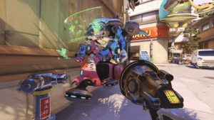overwatch-screenshot:  D.Va has a bike too. Look out Ashe.: AMEN overwatch-screenshot:  D.Va has a bike too. Look out Ashe.