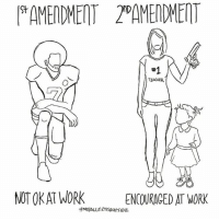 Memes, Teacher, and Work: AMENDMENT 2 AMERDMENT  St  #1  TEACHER  NOT OKAT WORK  ENCOURAGED AT WORK 'Merica! 🇺🇸 guncontrol . Via @yourrightscamp