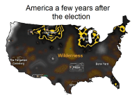 America, Bone, and Election: America a few years after  the election  Isl  Wilderness  The Forgotten  Cemete  Bone Yard  Gra