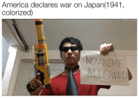 America, Tumblr, and Blog: America declares war on Japan(1941  colorized)  NOANIME  ALLOWED fakehistory:  America declares war on Japan(1945, colorized)