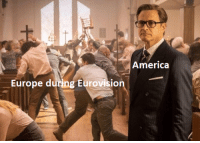 America, Europe, and Eurovision: America  Europe during Eurovision