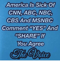 "Share If You Agree: America Is SickOf  CNN,ABC, NBC,  Comment ""YES"" And  ""SHARE"" If  You Agree"
