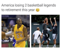 Kobe Bryant & Barack Obama.: America losing 2 basketball legends  to retirement this year  @NBAMEMES  LAKERS  24  ADING Kobe Bryant & Barack Obama.