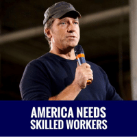 America, Memes, and 🤖: AMERICA NEEDS  SKILLED WORKERS EXACTLY! America Needs Skilled Workers! Mike Rowe DESTROYS The Myth That You NEED A Four Year Degree! #GameOfLoans