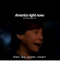 rip harrypotter: America right now:  PerksofamugglebornlIG  Can we panic now? rip harrypotter