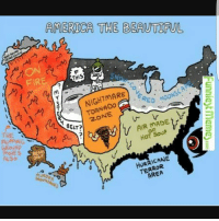 Memes, Hurricane, and Tornado: AMERICA THE BEAUTTFUL  THIS  FIRE  RED  MooNS  TORNADO  2.O  HOT SOUP  FLIPPING  GROUN9  GEARS  MovES  HURRICANE  AREA