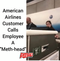 "Bitch, Head, and Memes: American  Airlines  Customer  Calls  Employee  ""Meth-head""  pmuw  HIPHOF ""I got a master's, I know the law, bitch!"" AmericanAirlines customer missed her flight, calls employee a methhead - FULL VIDEO AND STORY AT PMWHIPHOP.COM LINK IN BIO"
