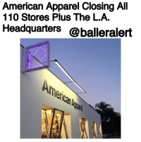 """American Apparel Closing All 110 Stores Plus The L.A. Headquarters -blogged by- @peachkyss ⠀⠀⠀⠀⠀⠀⠀⠀⠀ ⠀⠀⠀⠀⠀⠀⠀⠀⠀ Well, it looks like it's over for the popular store, AmericanApparel. According to Hollywood Reporter, the brand will be closing all 110 of its remaining U.S. store locations by the end of April. ⠀⠀⠀⠀⠀⠀⠀⠀⠀ ⠀⠀⠀⠀⠀⠀⠀⠀⠀ The Canadian brand Gildan Activewear won an auction to acquire American Apparel's intellectual property and some of its manufacturing equipment for $88 million. The Canadian company has no interest in the 110 stores and opted to not to assume leases on its distribution center. The closures could result in the loss of as many as 3,400 factory positions. ⠀⠀⠀⠀⠀⠀⠀⠀⠀ ⠀⠀⠀⠀⠀⠀⠀⠀⠀ CEO PaulaSchneider stepped down from her position in 2015. She was appointed in 2014 after Dov Charney, founder of American Apparel, was ejected due to many sexual harassment allegations. The company ended up with numerous lawsuits over the years for sexual harassment as well as their racy ad campaigns. ⠀⠀⠀⠀⠀⠀⠀⠀⠀ ⠀⠀⠀⠀⠀⠀⠀⠀⠀ If you are near any of their stores, be sure to grab yourself a few things. There's nothing like a good """"Everything Must Go"""" sale. Still, it's unfortunate to see the company depart after over 20 years.: American Apparel Closing All  110 Stores Plus The L.A.  Headquarters  @balleralert American Apparel Closing All 110 Stores Plus The L.A. Headquarters -blogged by- @peachkyss ⠀⠀⠀⠀⠀⠀⠀⠀⠀ ⠀⠀⠀⠀⠀⠀⠀⠀⠀ Well, it looks like it's over for the popular store, AmericanApparel. According to Hollywood Reporter, the brand will be closing all 110 of its remaining U.S. store locations by the end of April. ⠀⠀⠀⠀⠀⠀⠀⠀⠀ ⠀⠀⠀⠀⠀⠀⠀⠀⠀ The Canadian brand Gildan Activewear won an auction to acquire American Apparel's intellectual property and some of its manufacturing equipment for $88 million. The Canadian company has no interest in the 110 stores and opted to not to assume leases on its distribution center. The closures could result in the loss of as many as 3,400 factory positions. ⠀⠀⠀⠀⠀"""