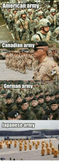 Army, American, and Military: American army  Canadian army  German army  Japanese army