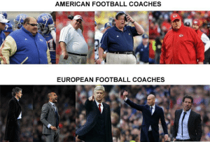 American football coaches vs European football coaches: American football coaches vs European football coaches