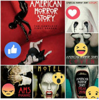 American Horror Story, Memes, and Hotel: AMERICAN  HORROR  STORY  THE COMPLETE  FIRST SEASON  HOTEL  AHS  ROANOKE  AMERICAN HORROR STORY ASYLUM  AMERI  ROR STORY  AMERICAN  HORROR  STORY  FREAK  SHOW