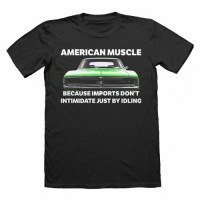 Memes, 4th of July, and American: AMERICAN MUSCLE  BECAUSE IMPORTS DON'T  INTIMIDATE JUST BY IDLING Celebrate the 4th of July with 15% off your order using code 'FREEDOM' Link in our bio 🇺🇸 - - usa july4th carthrottle carmemes carsofinstagram carswithoutlimits instacars muscle v8
