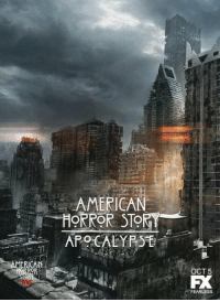 American, Relatable, and Apocalypse: AMERICAN  OR  STOR  AMERICAN  HORROR STORT  APOCALYPSE  OCT5  FEARLESS I THINK I JUST DIED