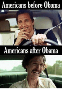 Not very encouraging if we end up with another 4 years of the same through his surrogate. Maybe the Boston Tea Party really had something there.  Thanks for this one, Jason C.: Americans before Obama  Americans after Obama Not very encouraging if we end up with another 4 years of the same through his surrogate. Maybe the Boston Tea Party really had something there.  Thanks for this one, Jason C.
