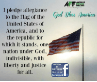 Memes, 🤖, and Allegiance: AMERICAS  FREEDOM  FIGHTERS  I pledge allegiance  ble» Amelieu  to the flag of the  God  United States of  America, and to  the republic for  Which it stands, one  nation under God,  indivisible, with  liberty and justice  NATION  IN  DISTRESS  for all.  like us on  facebook Good morning and God Bless!