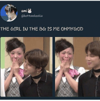 Friends, Funny, and Memes: ami  @bottomkookie  THE GIRL IN THE BG IS ME OHMYGOD 》Tag your friends 》》 Follow @funnykpop_hamster 》》》DM any funny videos ⚠ credit to owner© kpop korean fangirl fandom exo bangtanboys bigbang snsd 2ne1 ikon gfriend exid superjunior got7 astro blackpink kard nct twice redvelvet seventeen vixx blockb shinee monstax