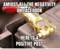 isd: AMIDST ALL THE NEGATIVITY  ON FACEBOOK  HERE ISD  POSITIVE POST